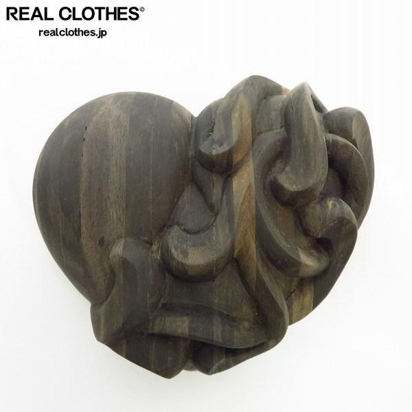 CHROME HEARTS/クロムハーツ 青山店ノベルティ エボニーウッド ペーパーウェイト スクロールラベル 非売品