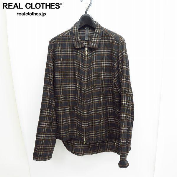 CHROME HEARTS/クロムハーツ HEYWOOD LS ダガージップ チェックシャツ M