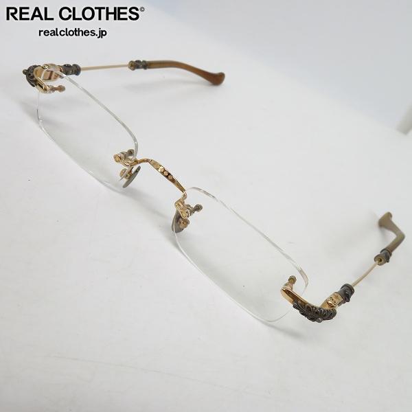 CHROME HEARTS/クロムハーツ PILLS 1 GP GOLD PLATED 2ポイント アイウェア/メガネフレーム/眼鏡
