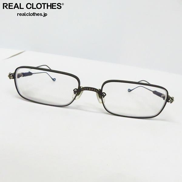CHROME HEARTS/クロムハーツ SKIDDER MBK 度入り メタル メガネフレーム/アイウェア/眼鏡