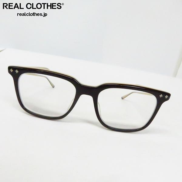 CHROME HEARTS/クロムハーツ BIG RICKY BT 度入り フルリム メガネフレーム/アイウェア/眼鏡