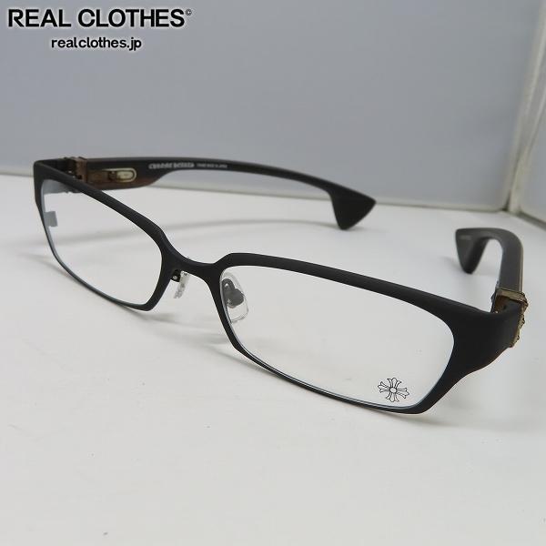 【インボイス】CHROME HEARTS/クロムハーツ DIXON YU-A/ディクソン エボニーウッド 眼鏡/メガネフレーム/アイウェア