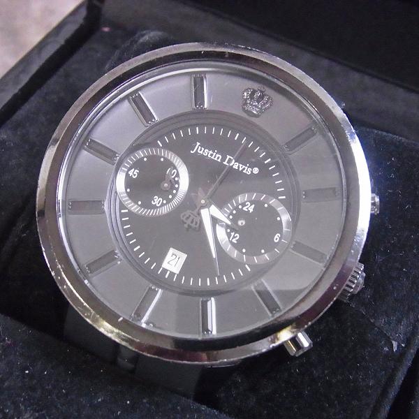 高価買取アイテムのJustin Davis×KIYOHARU/ジャスティンデイビス×清春 コラボレーション クロノグラフ ウォッチ/腕時計 BBB004の買取上限価格は42,000円