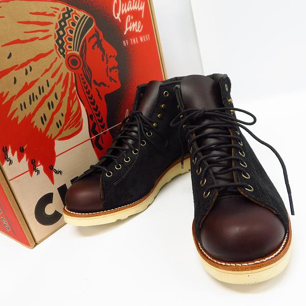 高価買取アイテムのCHIPPEWA/チペワ 1901M81 5 LACE TO TOE BRIDGEMAN BOOTS BLACK SUEDE/BURGUNDY/5インチ ブリッジマン ブーツ ブラックスウェード/バーガンディ 1901M81の買取上限価格は12,000円