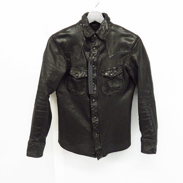高価買取アイテムのBACKLASH/バックラッシュ 1499-01 ジャパンステアー 製品染め パンチング レザーシャツ 1499-01 ブラックの買取上限価格は30,000円