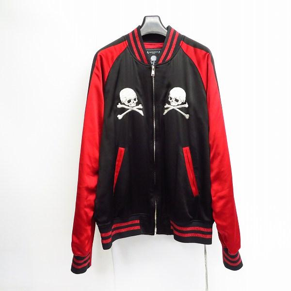 高価買取アイテムのmastermind JAPAN/マスターマインド MJ18P02-BL024-401 18SS シルク バックスカルデザイン スカジャン MJ18P02-BL024-401の買取上限価格は100,000円
