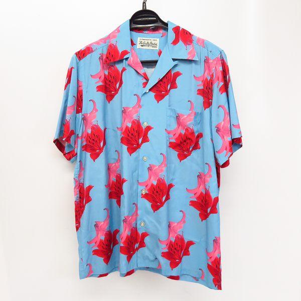 高価買取アイテムのWACKO MARIA/ワコマリア 2020SS S/S  HAWAIIAN SHIRT TYPE 2 BLUE/フラワー S/S ハワイアンシャツ ブルー 20SS-WMS-HI02の買取上限価格は26,000円