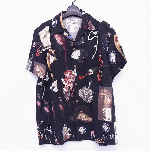 高価買取アイテムのWACKO MARIA/ワコマリア 2018SS 天国東京お化け図 S/S HAWAIIAN SHIRT BLACK/ハワイアン シャツ ブラック 18SS-WMS-HI16の買取上限価格は25,000円