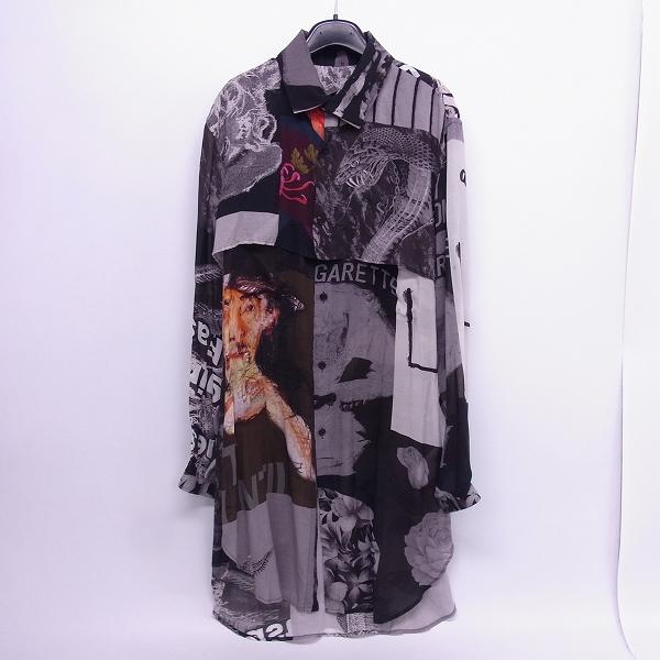 高価買取アイテムのBLACK Scandal Yohji Yamamoto/ブラックスキャンダル ヨウジヤマモト HW-B53-231 18SS シャツ パッチワーク 衿マチロングシャツ HW-B53-231の買取上限価格は45,000円