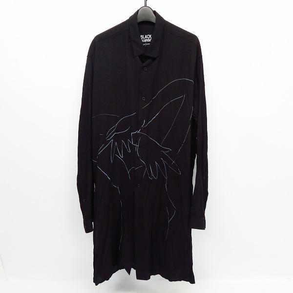 高価買取アイテムのBLACK Scandal Yohji Yamamoto/ブラックスキャンダル ヨウジヤマモト HV-B61-225 18AW ヌードイラスト脇ボタンロングブラウス HV-B61-225の買取上限価格は25,000円