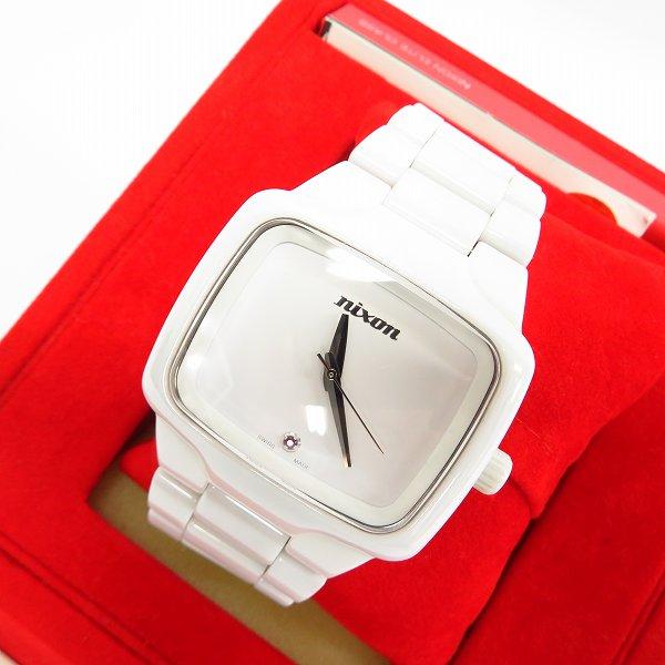 高価買取アイテムのNIXON/ニクソン CERAMIC PLAYER AUTOMATIC WATCH WHITE A145-126/セラミックプレイヤー 自動巻き腕時計 ホワイト  A145-126の買取上限価格は18,000円