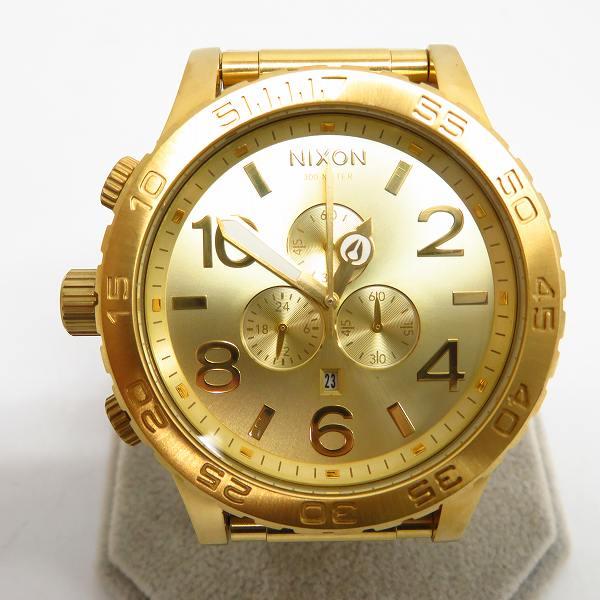 高価買取アイテムのNIXON/ニクソン THE 51-30 CHRONO QUARTZ WATCH GOLD A083-502/THE 51-30 クロノグラフ クオーツ 腕時計 ゴールド A083-502の買取上限価格は8,000円