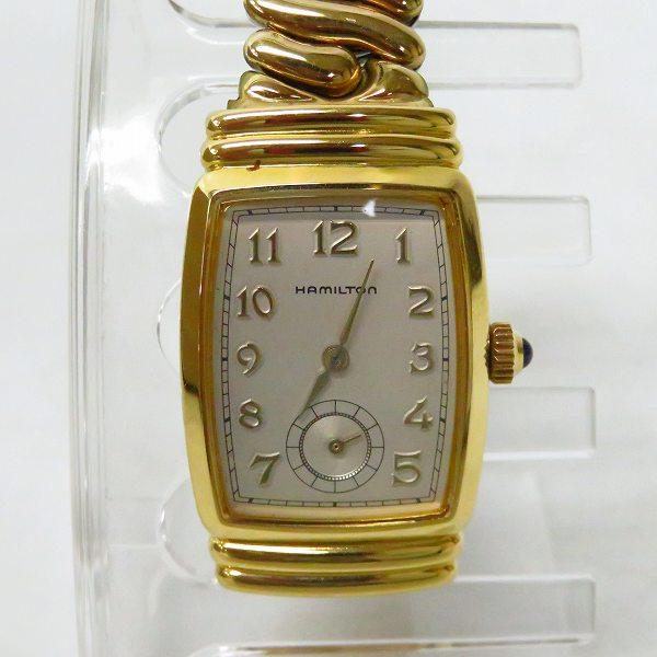 高価買取アイテムのHAMILTON/ハミルトン ベントン スモールセコンド レディース クォーツ 腕時計 6248の買取上限価格は10,000円