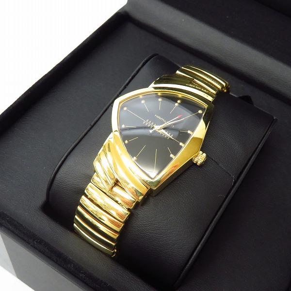 高価買取アイテムのHAMILTON/ハミルトン Ventura/ベンチュラ 黒文字盤 クォーツ 腕時計 H243010の買取上限価格は48,000円