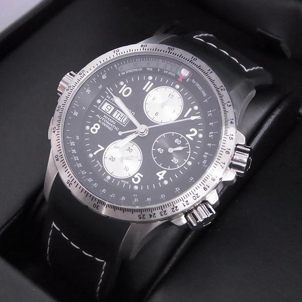 高価買取アイテムのHAMILTON/ハミルトン KHAKI/カーキ アビエーション X-ウィンド オートクロノ 自動巻き/腕時計 H77616333の買取上限価格は40,000円