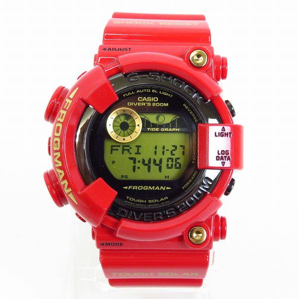 高価買取アイテムのG-SHOCK/Gショック FROGMAN/フロッグマン 30周年記念モデル Rising RED/ライジングレッド GF-8230A-4JRの買取上限価格は50,000円